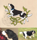bespoke celtic and nordic pet portrait commissions by badger king