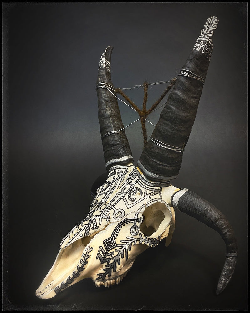 Icelandic Magical staves viking sheep skull