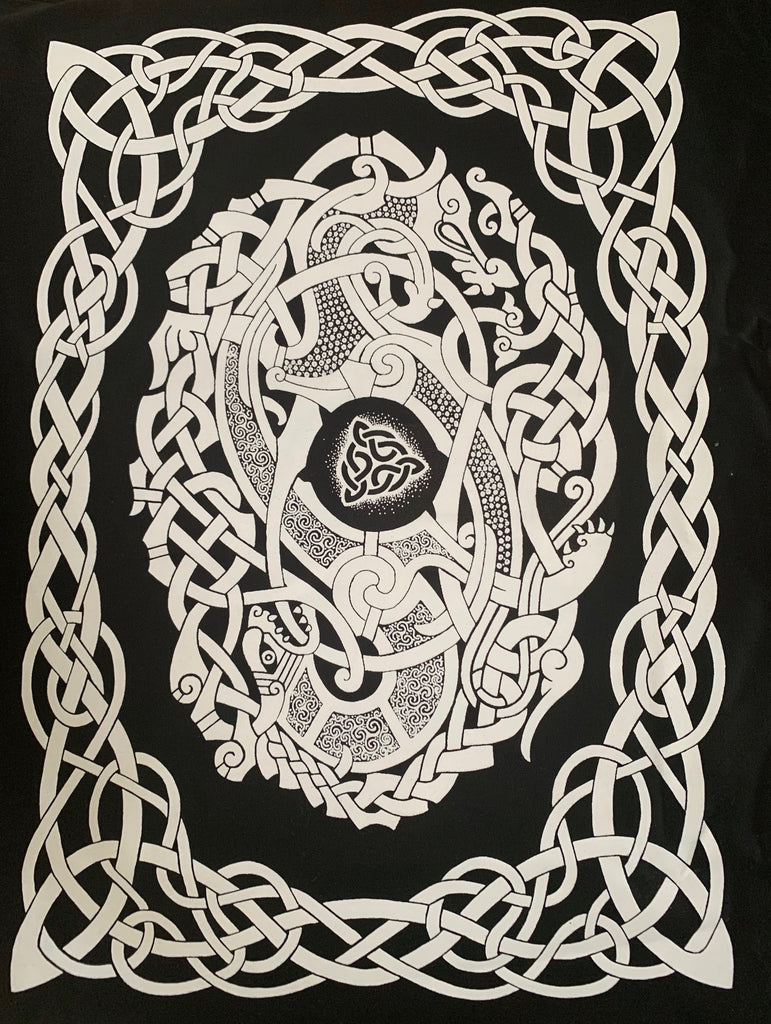 Sacred Knot celtic knotwork tea towel