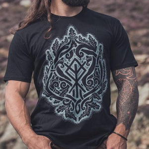 Villkat Arts Celtic Oak Tree T Shirt, Tree of life, Druids, Celtic art