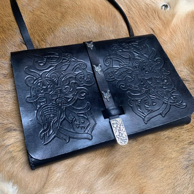 Ornamented Black Raven Handbag