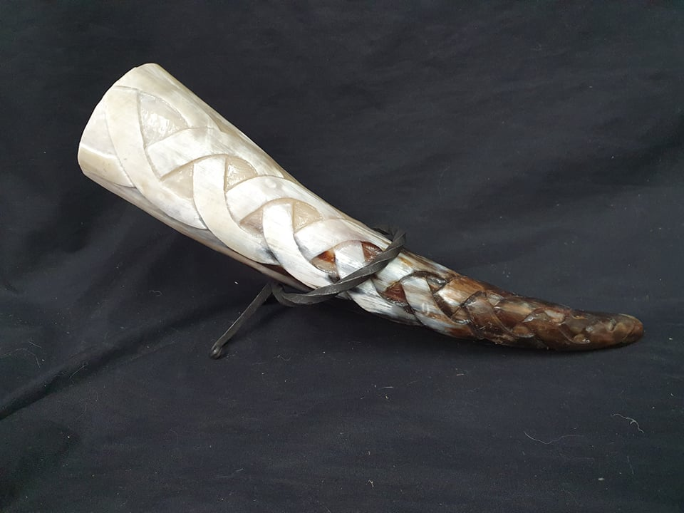 Hand Carved Horn
