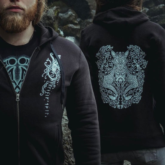 Load image into Gallery viewer, Viking beserker hoody, nordic wolf warrior