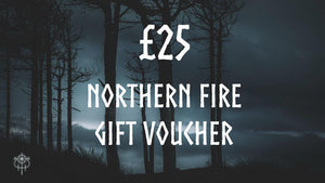Northern Fire Designs, the artistic collective. Celtic and Nordic artwork, t shirts, pyrography, enamel pins, original paintings, leatherwork. Gift Card