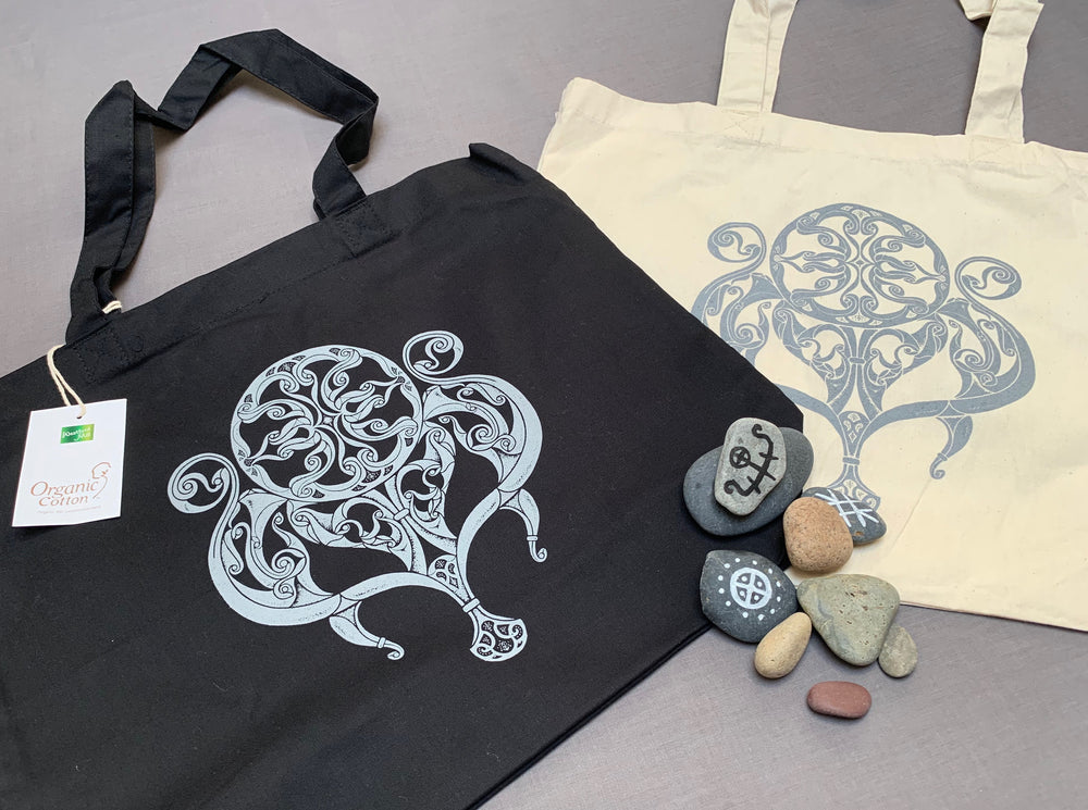 Northern Fire Celtic Tote Bag
