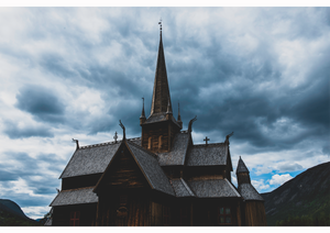 Load image into Gallery viewer, Lom Stave Church A3 Print