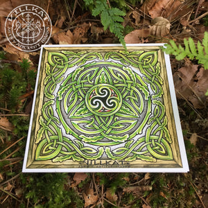 Load image into Gallery viewer, Villkat Arts gift card series, celtic art, nordic art, christmas card, alternative,