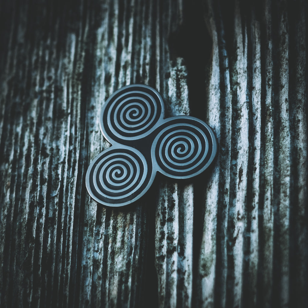 Celtic Triskel Enamel Pin by Sacred Knot Tattoo