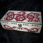 urnes style dragon painted box