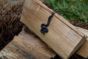 Hand forged steel pendant by oak tree forge