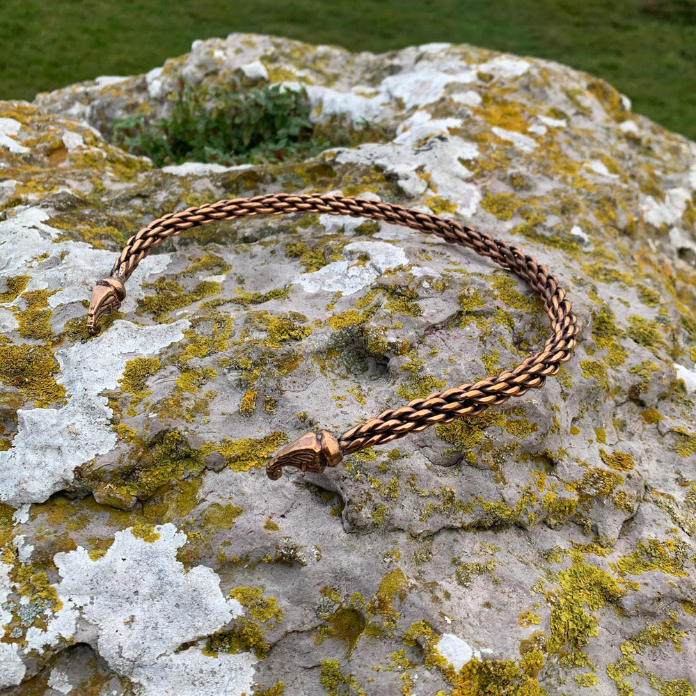 Bronze celtic torc by sacred knot