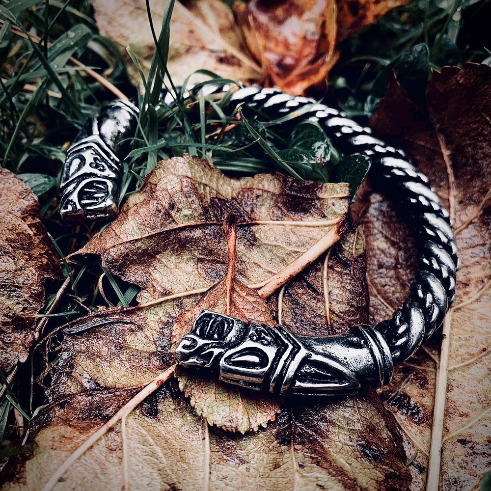 Hiberno Norse bracelet, designed by Sacred Knot Tattoo, cast by asgard crafts for Northern Fire Designs, Viking, hybrid, celtic, arm ring, armring