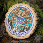 Customised Celtic and Nordic commission design by villkat arts