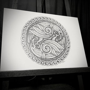 Load image into Gallery viewer, Series of A5 Viking prints by Dyrs Hjarta Art