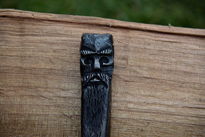 Hand forged Odin bottle opener by oak tree forge