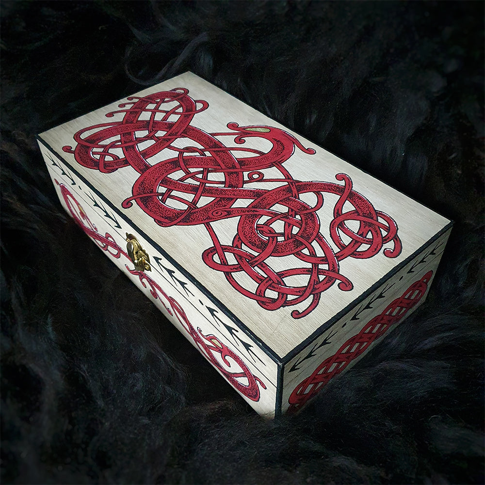 Urnes Style Painted Wooden Box