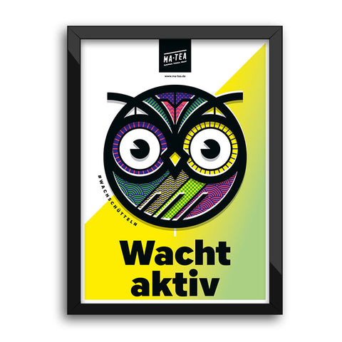 Poster – Colored Owl (50x70cm)