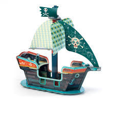 Djeco Pop-up 3D Piratenschiff aus Karton