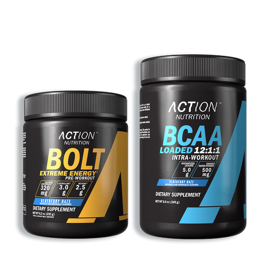 Ultimate Workout Stack with BOLT Extreme Energy and BCAA Loaded