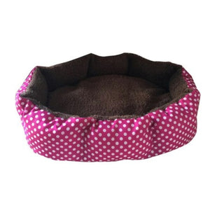 BlingD Soft Fleece Polka Dot Dog Bed