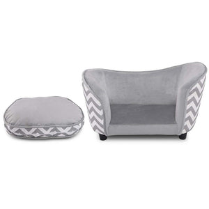 BlingDog Ultra Soft Wavy Dog Sofa/Bed