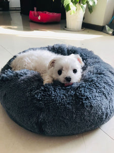 BlingDog Fluffy Round Dog Bed