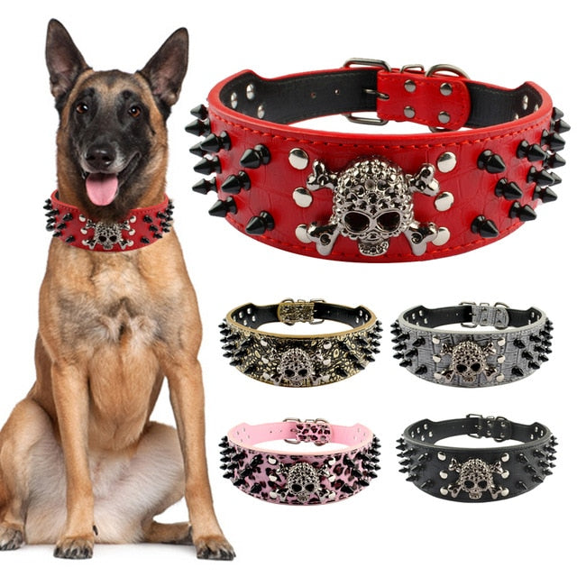 BlingDog Skull And Bones Dog Collar - nekorandomproducts