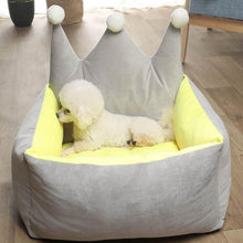 Load image into Gallery viewer, BlingDog Crown Dog Bed For Royalty