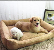 Load image into Gallery viewer, BlingDog Brown Fleece Dog Bed
