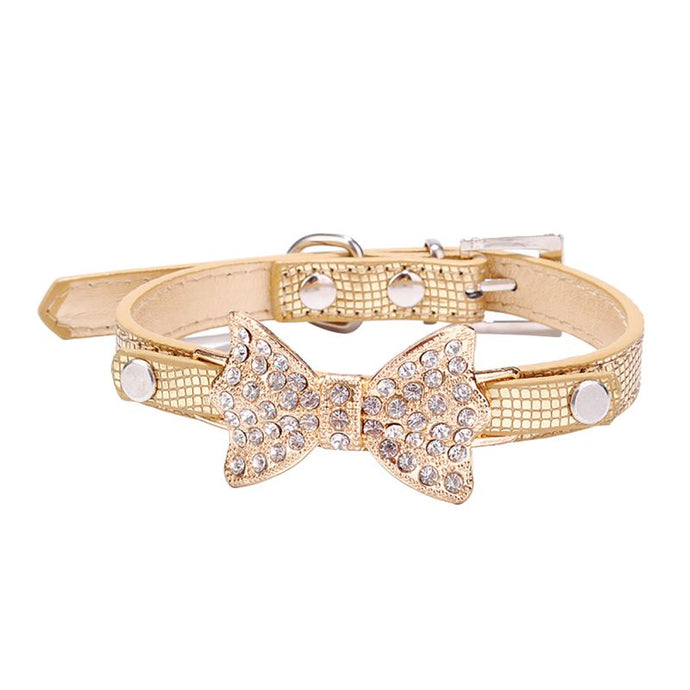 BlingDog Crystal Bow Dog Collar -