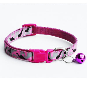 BingDog Adjustable Camo Bell Dog Collar - nekorandomproducts