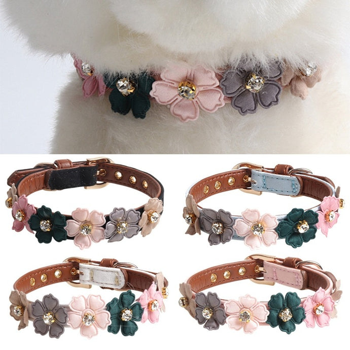 BlingDog Doggy Flower Dog Collar - nekorandomproducts