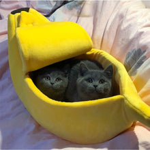 Load image into Gallery viewer, Bling Banana Cat Bed