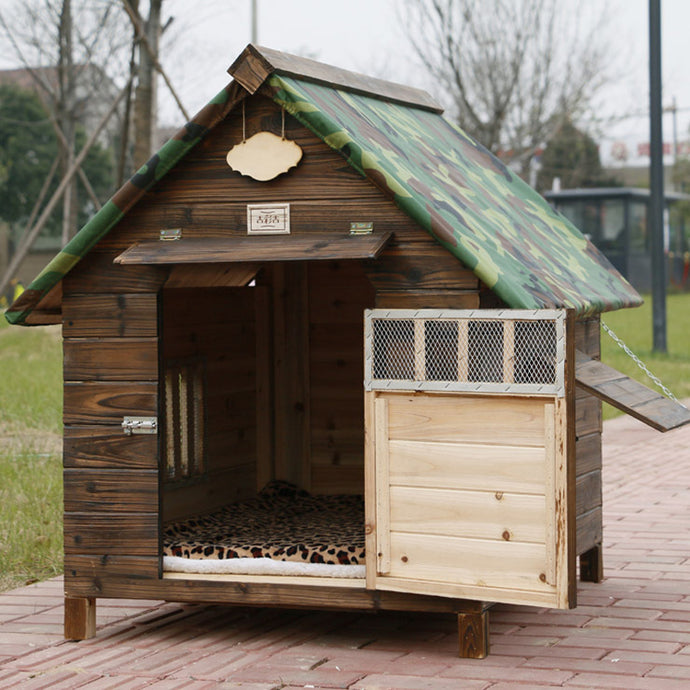 BlingDog Dog House With Camo Roof Top #2 - nekorandomproducts