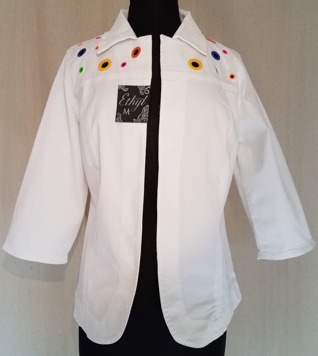 Ethyl Grommet Jacket White
