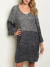 Load image into Gallery viewer, Bicolor Sweater Dress