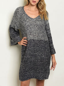 Bicolor Sweater Dress