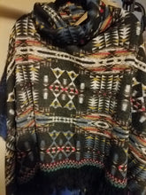 Load image into Gallery viewer, Fringe Tribal Pullover with Fleece Lining
