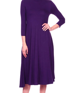 Magic Dress 3/4 Sleeve Jersey with Side Seam Pockets
