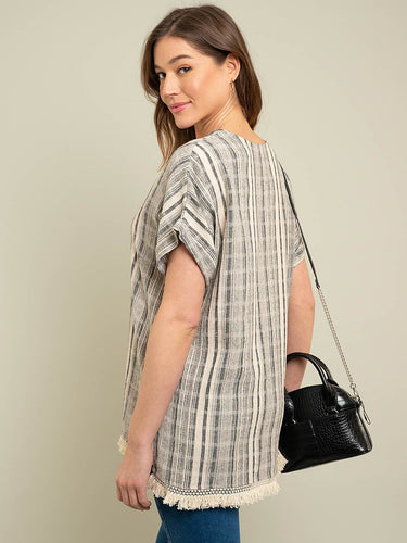 Multi Stripe Cotton Tunic