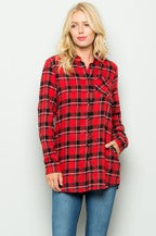 Door Buster!   Plaid Button Down Long Sleeves Top
