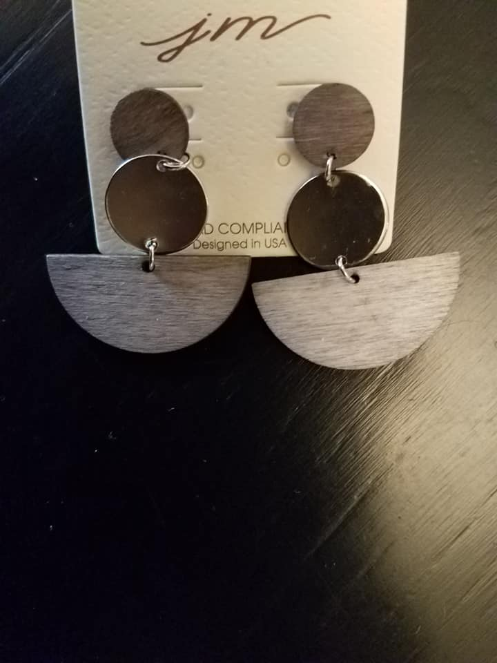Wooded Crescent Earrings