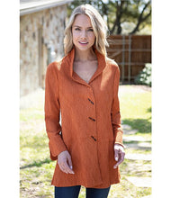 Load image into Gallery viewer, Ali Miles Texture French Cuff Button Tunic Top