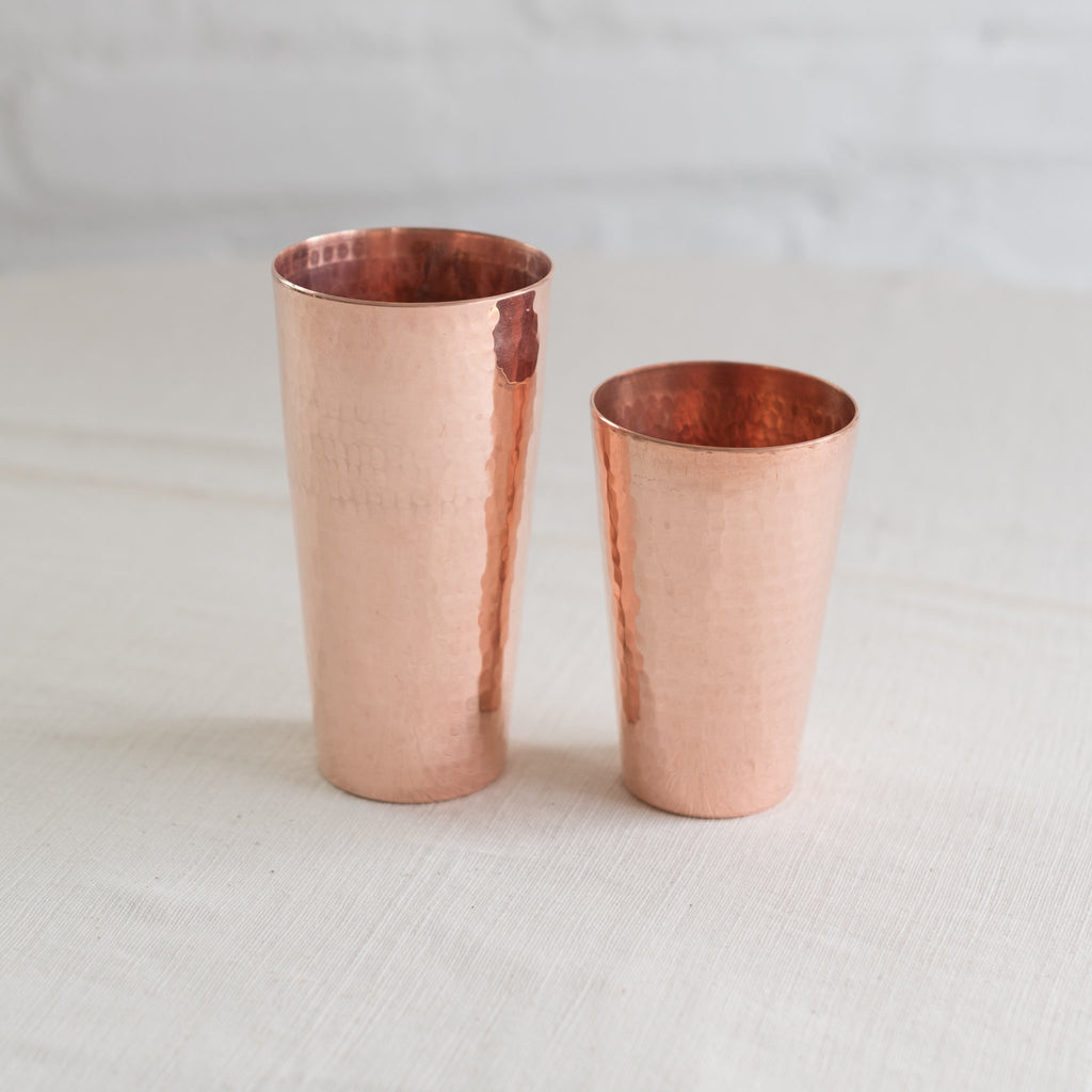 copper boston shaker - hammered copper shaker - modern bar shaker - modern cocktail shaker - Sertado copper shaker - recycled copper cocktail shaker - Sertado copper