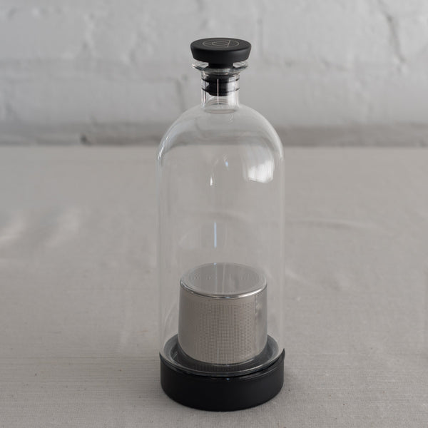 ethan ashe - glass cocktail infuser- stainless steel infuser- cocktail carafe