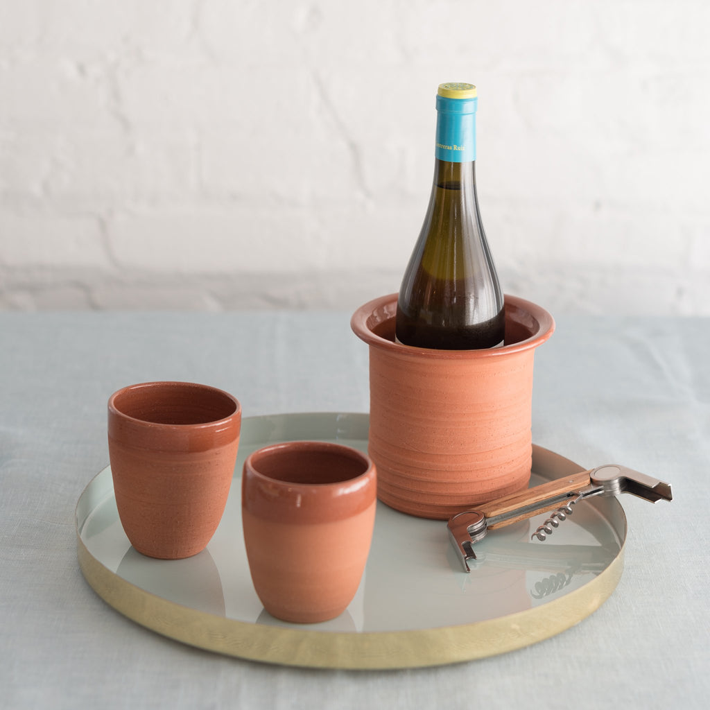 terra cotta wine cooler-terra cotta wine chiller-naturally cooling terra cotta wine chiller- earthenware wine cooler- artisan wine cooler
