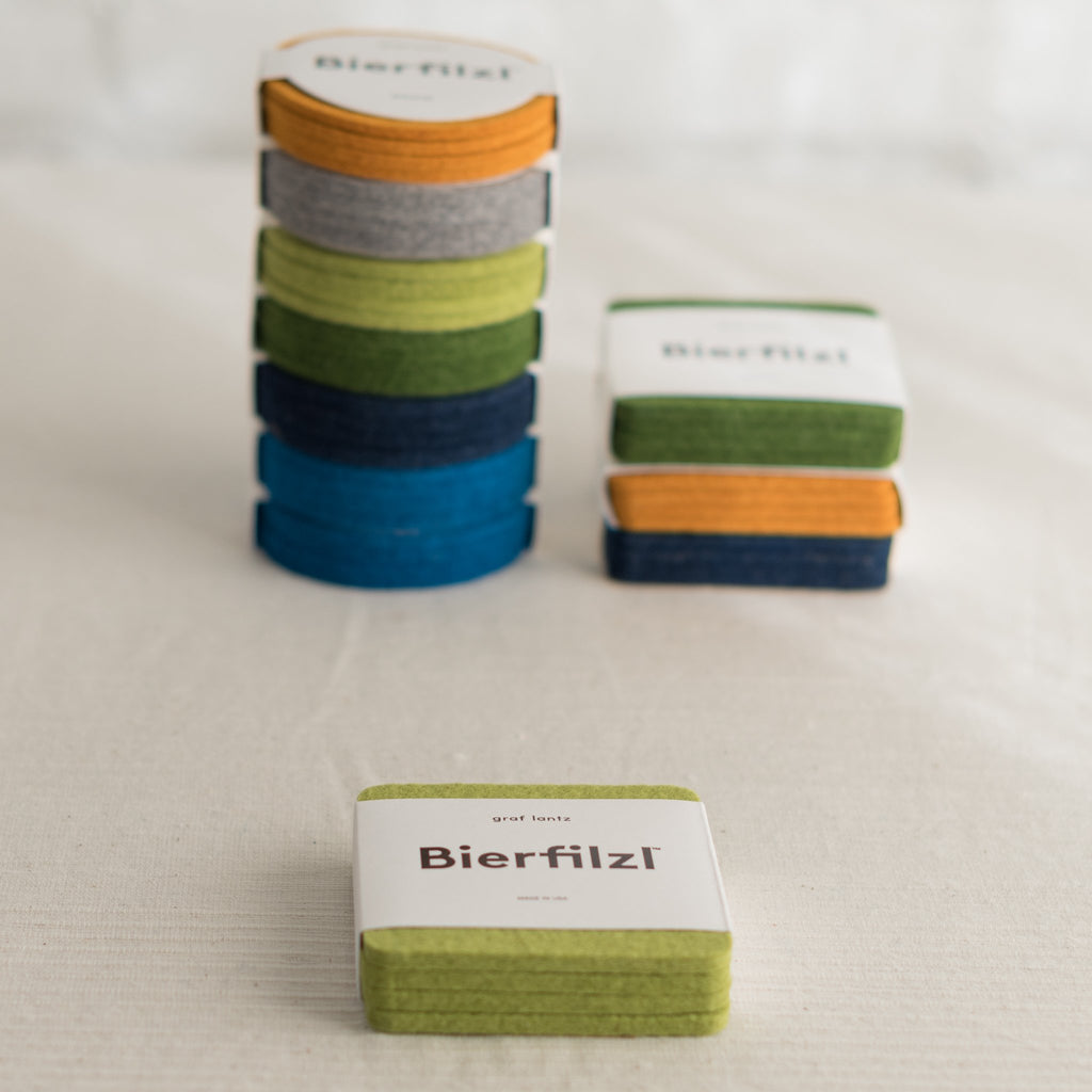 square felt coasters - modern felt coasters - merino wool felt coasters - 100% merino wool coasters - colorful felt coasters- colorful wool coasters