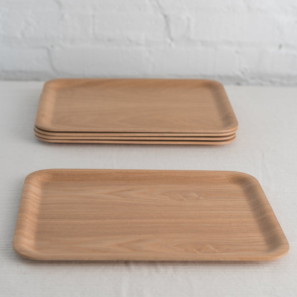 retro bar tray - nonslip bar tray - natural wood bar tray - teak bar tray - lightweight bar tray