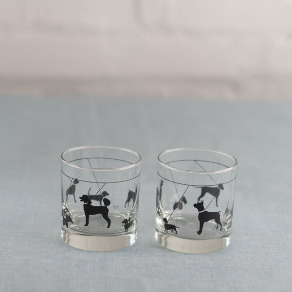 Canine Rocks Glass