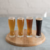 beer tasting glass- beer flight glass- flared beer flight glassware - 4 ounce beer glass